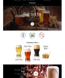 WordPress šablona na téma Café a restaurace č. 59005