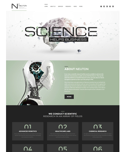 WordPress šablona na téma Věda č. 60052