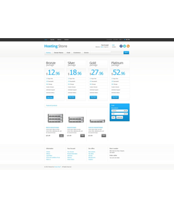 PrestaShop e-shop šablona na téma Hosting č. 41333