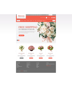 PrestaShop e-shop šablona na téma Květiny č. 41796