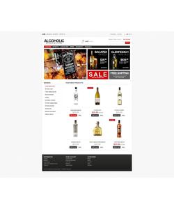 PrestaShop e-shop šablona na téma Jídlo a pití č. 43195