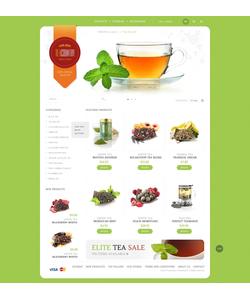 PrestaShop e-shop šablona na téma Jídlo a pití č. 43486