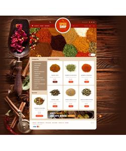 PrestaShop e-shop šablona na téma Jídlo a pití č. 43719