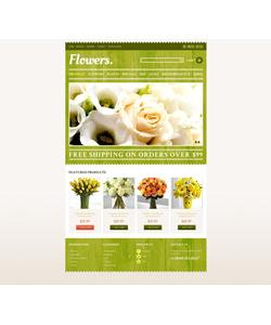 PrestaShop e-shop šablona na téma Květiny č. 44317