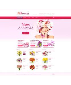 VirtueMart e-shop šablona na téma Květiny č. 45171