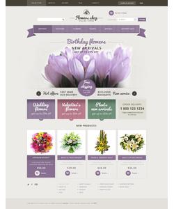VirtueMart e-shop šablona na téma Květiny č. 47316