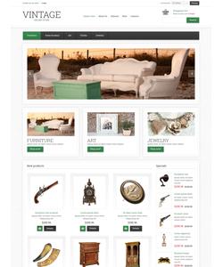 VirtueMart e-shop šablona na téma Starožitnosti č. 48013