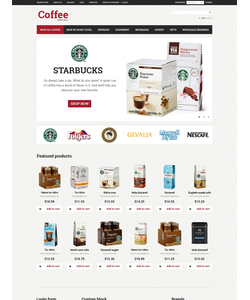 VirtueMart e-shop šablona na téma Café a restaurace č. 50693