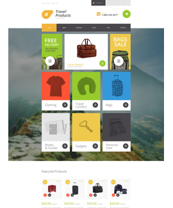 WooCommerce e-shop šablona na téma Cestování č. 54867