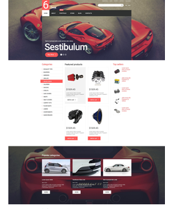 WooCommerce e-shop šablona na téma Auta č. 55066