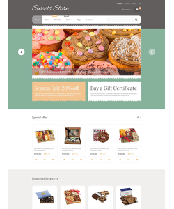 WooCommerce e-shop šablona na téma Café a restaurace č. 55592