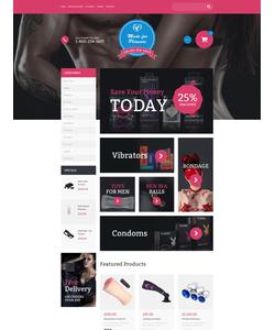VirtueMart e-shop šablona na téma Pro dospělé č. 60003