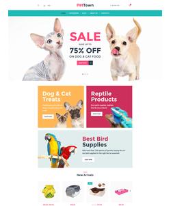 WooCommerce e-shop šablona na téma Zvířata č. 60094