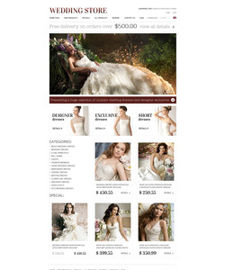 Zen Cart e-shop šablona na téma Svatby č. 37595