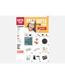 Zen Cart e-shop šablona na téma Dárky č. 37892