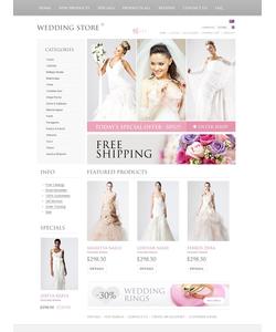 Zen Cart e-shop šablona na téma Svatby č. 38067