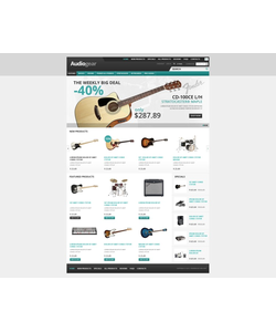 Zen Cart e-shop šablona na téma Hudba č. 38069