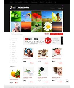 Zen Cart e-shop šablona na téma Umění a fotografie č. 38587