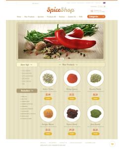 Zen Cart e-shop šablona na téma Jídlo a pití č. 38772