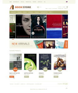 Zen Cart e-shop šablona na téma Knihy č. 38773