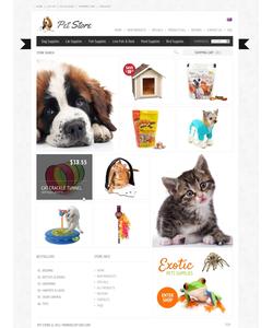 Zen Cart e-shop šablona na téma Zvířata č. 38826