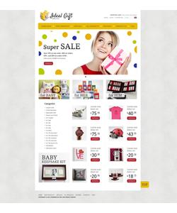 Zen Cart e-shop šablona na téma Dárky č. 38924