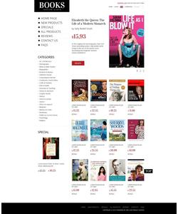 Zen Cart e-shop šablona na téma Knihy č. 39206