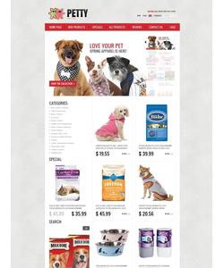 Zen Cart e-shop šablona na téma Zvířata č. 39207