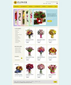 Zen Cart e-shop šablona na téma Květiny č. 39210
