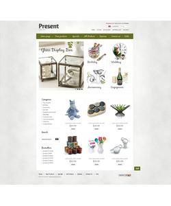 Zen Cart e-shop šablona na téma Dárky č. 39309