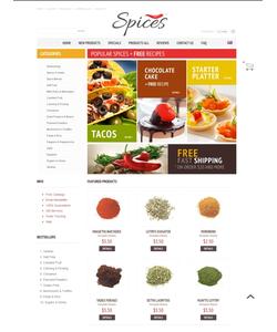 Zen Cart e-shop šablona na téma Jídlo a pití č. 40108