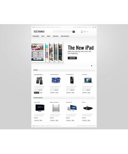 Zen Cart e-shop šablona na téma Elektronika č. 40120