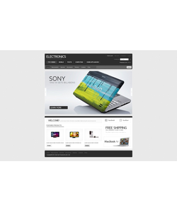 Zen Cart e-shop šablona na téma Elektronika č. 40938