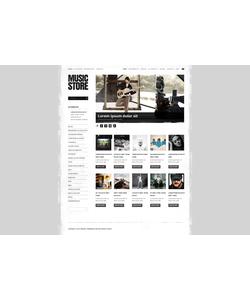 Zen Cart e-shop šablona na téma Hudba č. 41653