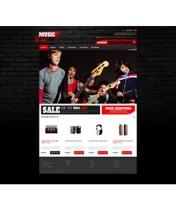 Zen Cart e-shop šablona na téma Hudba č. 41684