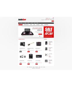 Zen Cart e-shop šablona na téma Hudba č. 43571