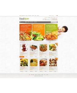 Zen Cart e-shop šablona na téma Jídlo a pití č. 43748