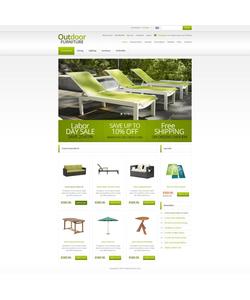 Zen Cart e-shop šablona na téma Interiér a nábytek č. 45245