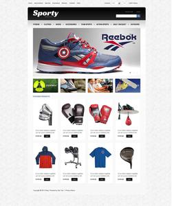 Zen Cart e-shop šablona na téma Sport č. 45590