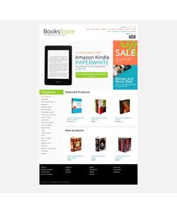 Zen Cart e-shop šablona na téma Knihy č. 45678