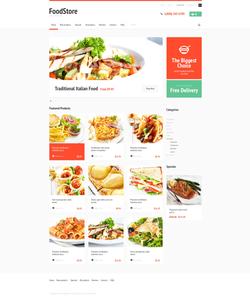 Zen Cart e-shop šablona na téma Jídlo a pití č. 47826