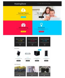 WooCommerce e-shop šablona na téma Hosting č. 48019