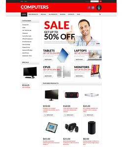 Zen Cart e-shop šablona na téma Počítače č. 50754