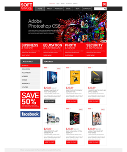 WooCommerce e-shop šablona na téma Software č. 50810