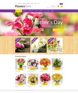 Zen Cart e-shop šablona na téma Květiny č. 50876