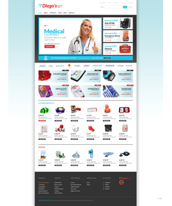 WooCommerce e-shop šablona na téma Lékařské č. 51237