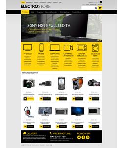 Zen Cart e-shop šablona na téma Elektronika č. 51271