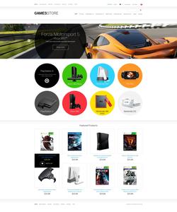 Zen Cart e-shop šablona na téma Hry č. 51374