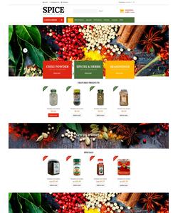 Zen Cart e-shop šablona na téma Jídlo a pití č. 51820