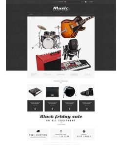 Zen Cart e-shop šablona na téma Hudba č. 51880
